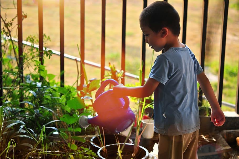 Child in the Garden Wonders