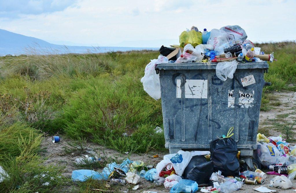 rubbish, waste container, waste