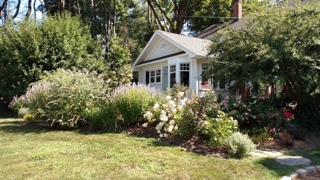 house, spring, front door
